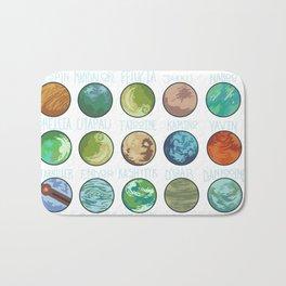 Planets Pattern Bath Mat
