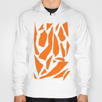 orange pattern Hoodies featuring Orange by osile ignacio