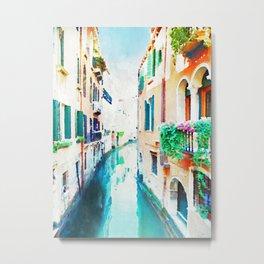 Venice (Italy) in watercolor Metal Print