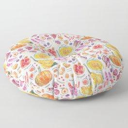 Autumn Harvest Pattern Annotated Floor Pillow