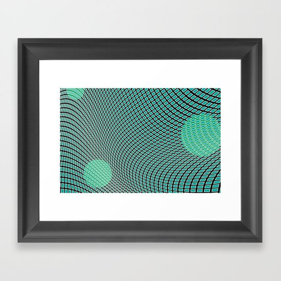 mod-century grid Framed Art Print