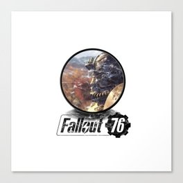 Fallout 76 circle Canvas Print