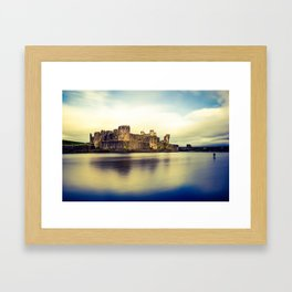 Caerphilly Castle (Cross Processed) Framed Art Print