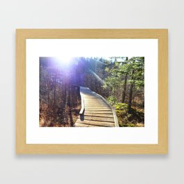 Footbridge to Highpeaks  Framed Art Print