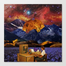 Working in space Canvas Print