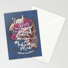 Albert Einstein Skull Quote Stationery Cards