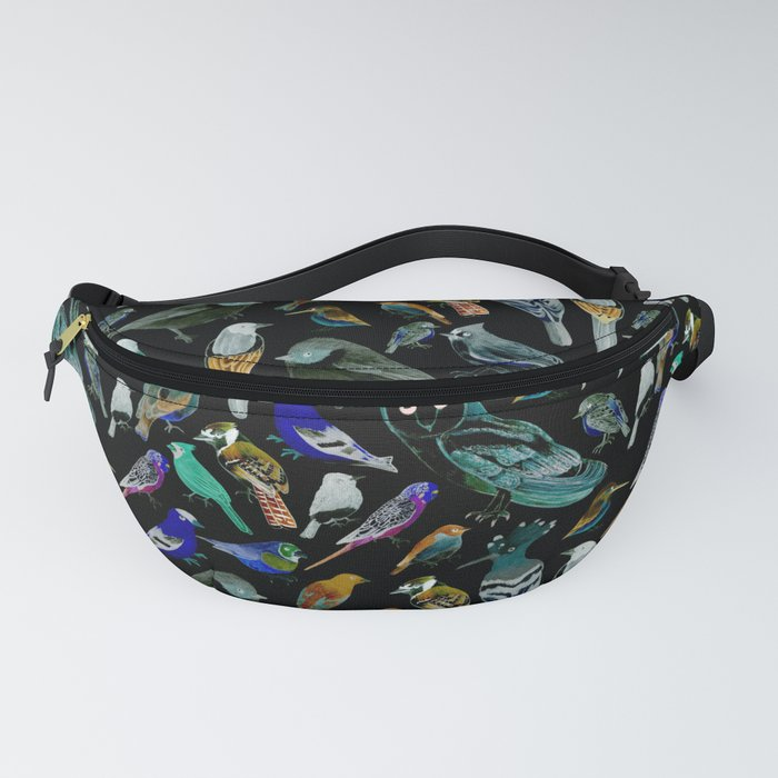American Birds on charcoal painting Fanny Pack
