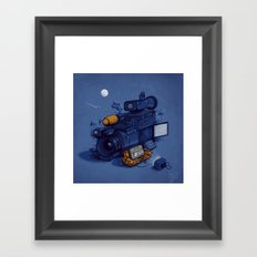 Movie Break Framed Art Print