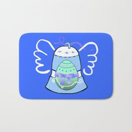 Blue Bell on Blue Bath Mat