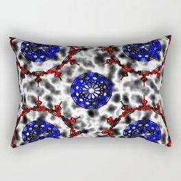 Mystery Plasma Antimatter Glass Mandala Pattern Rectangular Pillow