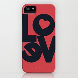 Love illustration, wall art, gift for couples, present for him, for her, Valentine's Day iPhone Case
