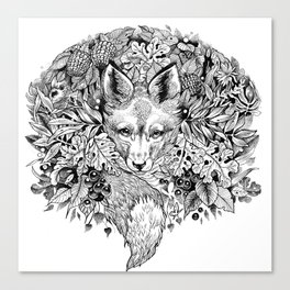 hidden fox Canvas Print
