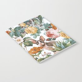 Cat and Floral Pattern III Notebook