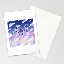 Houses in the Sky Stationery Cards