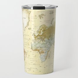 The World [Vintage] Relief Map Travel Mug