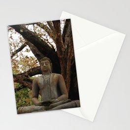 Buddha Statue at Abhayagiri Stupa 2 Stationery Cards