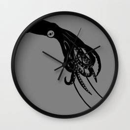 Architeuthis (Giant Squid) Vector Art Wall Clock
