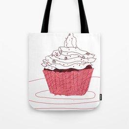 Red Velvet Vegan Cupcake  Tote Bag