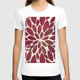 Petal Burst - Maroon T-shirt