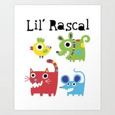 Lil' Rascal - Critters Art Print