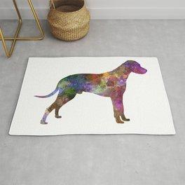 Dalmatian 01 in watercolor Rug