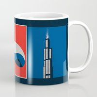 chicago Mugs featuring Chicago by Arts and Herbs