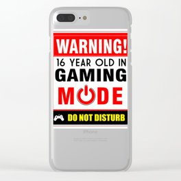 16 Year Old in Gaming Mode Video Game Gamer Clear iPhone Case