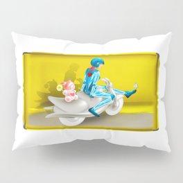 Time Bunny Girl and Love Robo Pillow Sham