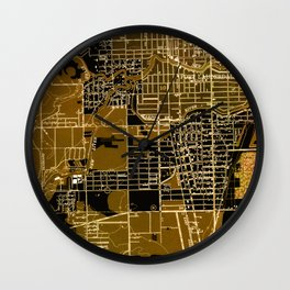 Fort Lauderdale 1949 Old Vintage Map Wall Clock