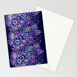 Summer night flowers Stationery Cards