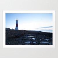 Lighthouse Sunrise Art Print