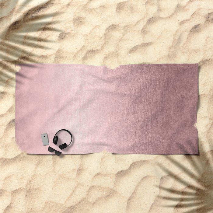 Simply Rose Quartz Elegance Beach Towel