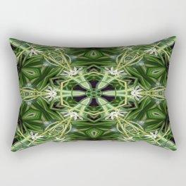 Spider Plant Kaleidoscope Art 1 Rectangular Pillow