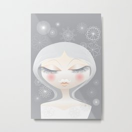 A Moustache From the SnowFall Metal Print