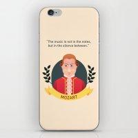 mozart iPhone & iPod Skins featuring Mozart by Espaco Ilusório