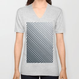 Waves - Lines Unisex V-Neck