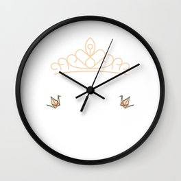 Origami Queen Motive for a Hobbyists Wall Clock