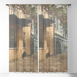 Charming Charleston Street Sheer Curtain