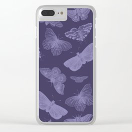Butterflies on Violet Clear iPhone Case
