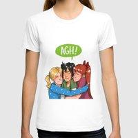 powerpuff girls T-shirts featuring POWERPUFF HUGS by avataraandy's society6