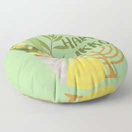 Sukkot Shalom Best Wishes for the Sukkot Holiday Floor Pillow