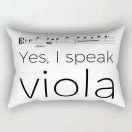 I speak viola Rectangular Pillow