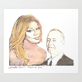 Laverne and Steve Art Print