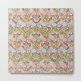 Design Confections Pattern on Pattern II Metal Print