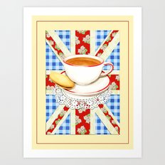 Union Jack and a Cup of Tea Art Print