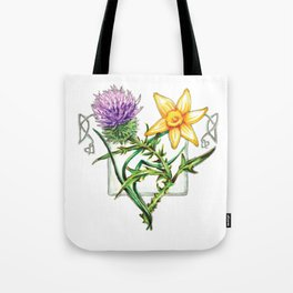 Thistle and Daffodil Tote Bag