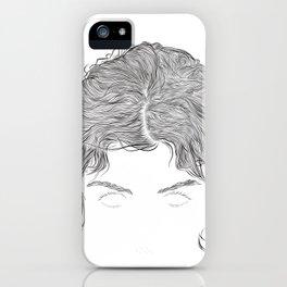 Audrey, in transparent/black iPhone Case