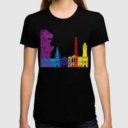 Singapore skyline pop T-shirt