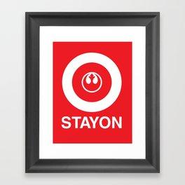 Stay On Target... Framed Art Print