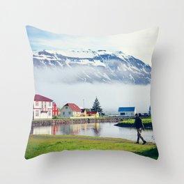 Seydisfjordur, Iceland Throw Pillow